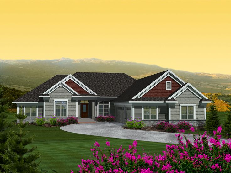 Ranch Home Plan, 020H-0319