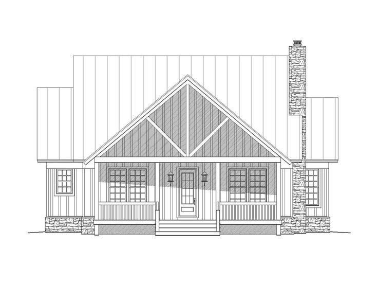 Waterfront Home Plan, 062H-0029