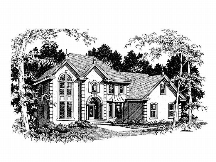 Two-Story House Plan, 007H-0102