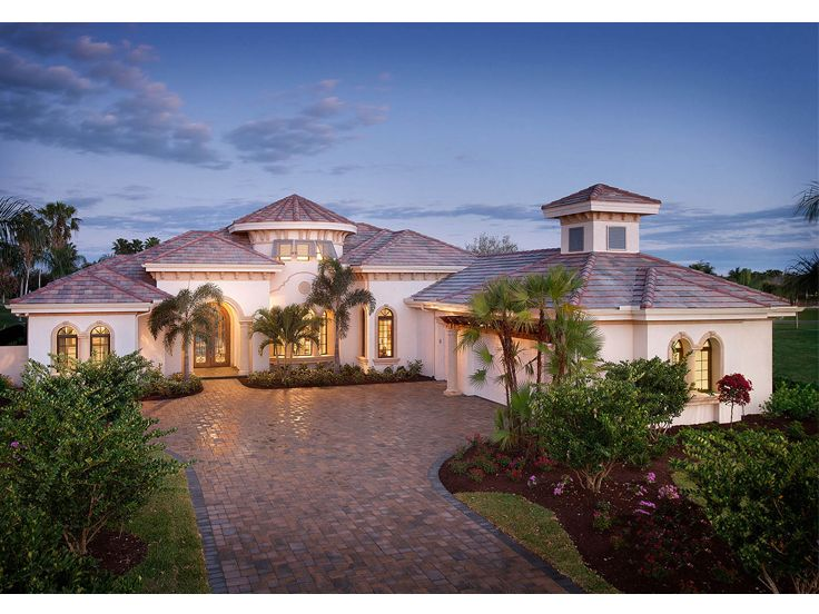 Mediterranean House Plans Premier Luxury Mediterranean Home Plan