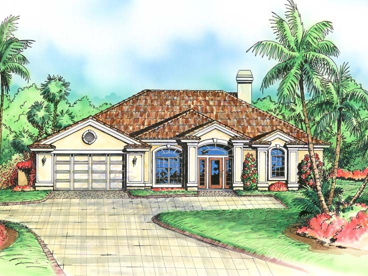 Sunbelt House Plan, 040H-0044