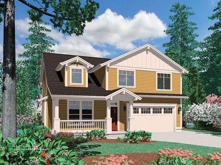 Narrow Lot Home Plan, 034H-0169