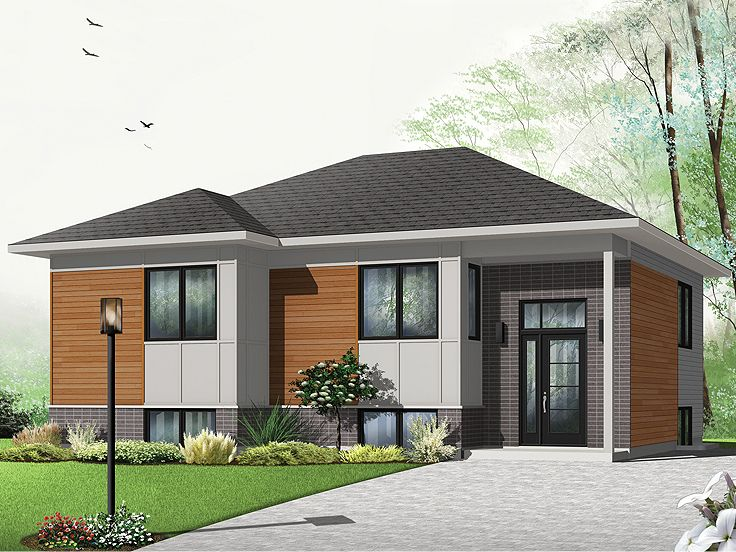 Modern home plans small contemporary house plan 027h for Small contemporary house