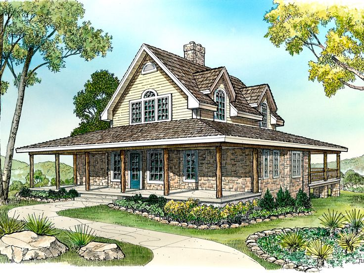 Farmhouse Plan, 008H-0004