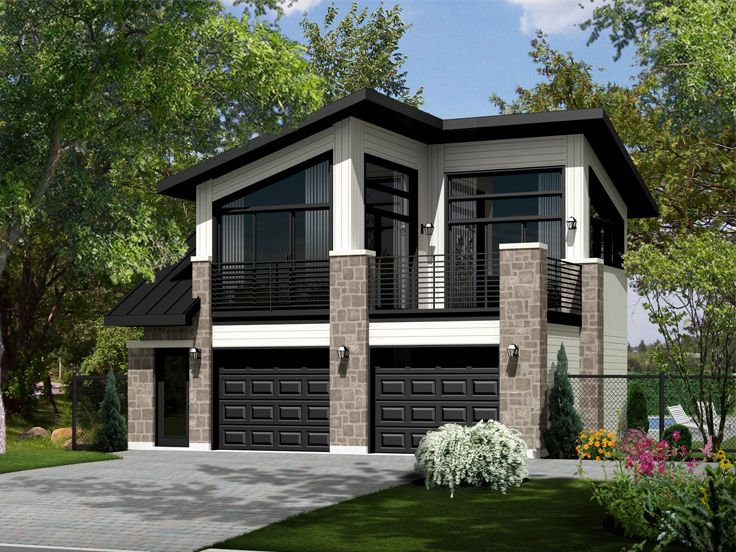 Modern Garage With Apartment Above carriage house plans | the house plan shop