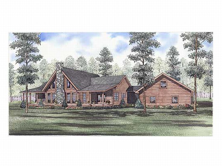 Log Home Design, 025L-0045