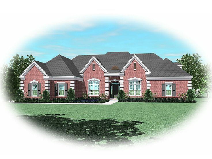 Ranch Home Plan, 006H-0132