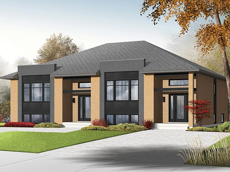 Plan 027m 0056 find unique house plans home plans and for Unique duplex plans
