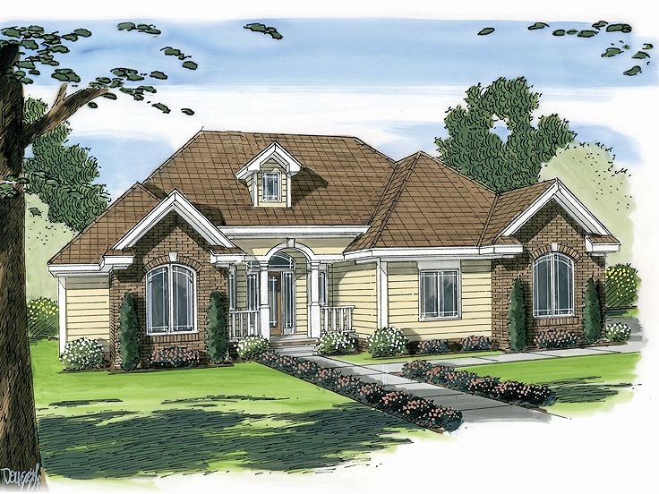 Ranch Home Plan, 050H-0016