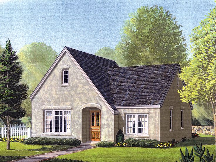 Narrow Lot House Plan, 054H-0089