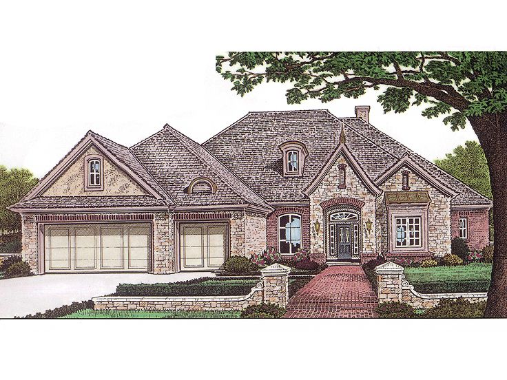 European House Plan, 002H-0001