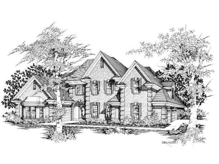 Two-Story House Design, 061H-0121