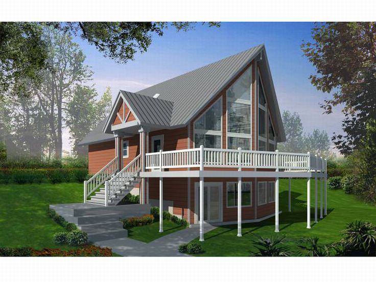 a frame house plan 026h 0111 - A Frame House Plans