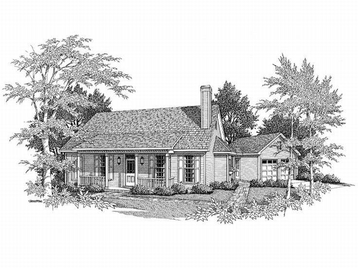 1-Story Home Plan, 030H-0011