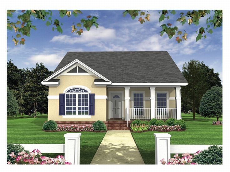 Sunbelt Home Plan, 001H-0012