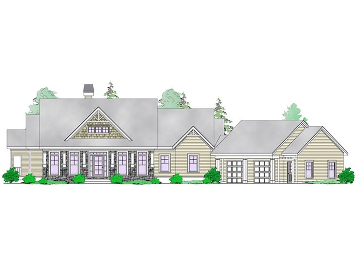 Mountain Home Plan, 053H-0082