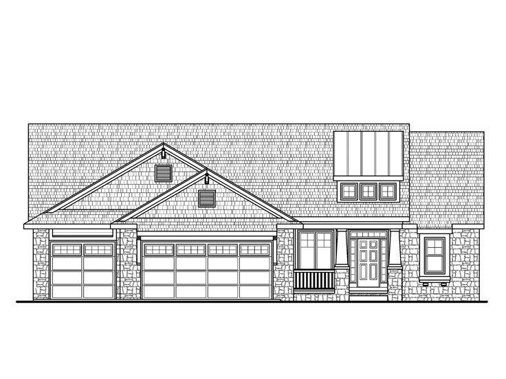 Craftsman Home Plan, 031H-0243