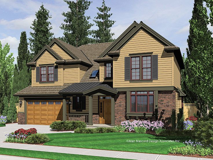 Two-Story Home Plan, 034H-0027