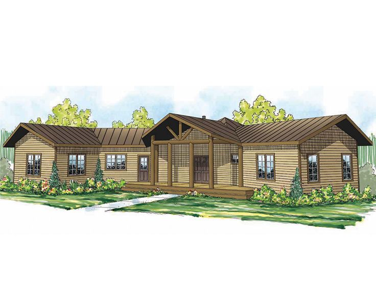 Rustic Ranch Home, 051H-0199