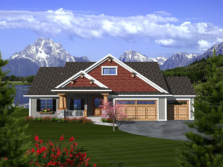 Craftsman House Plan, 020H-0312
