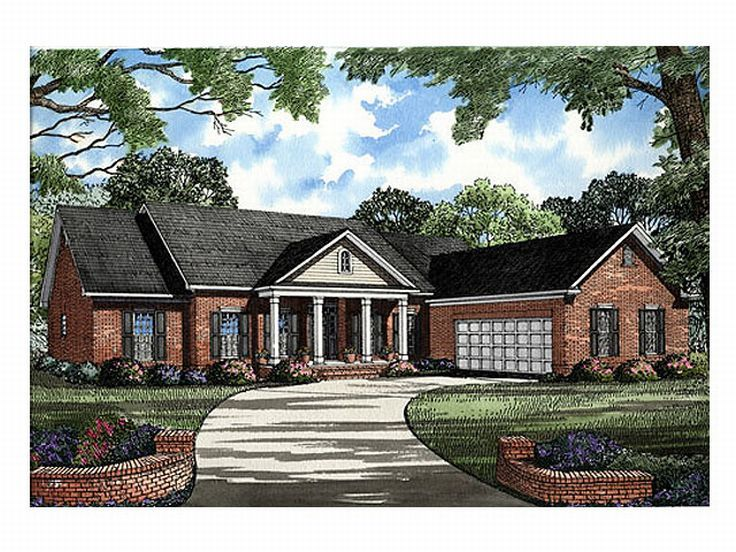 Ranch House Plan, 025H-0011