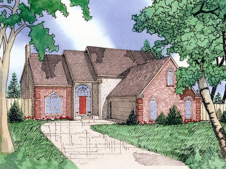 2-Story House Plan, 009H-0017