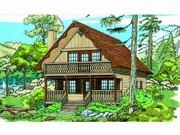 Chalet Home Plan, 032H-0008