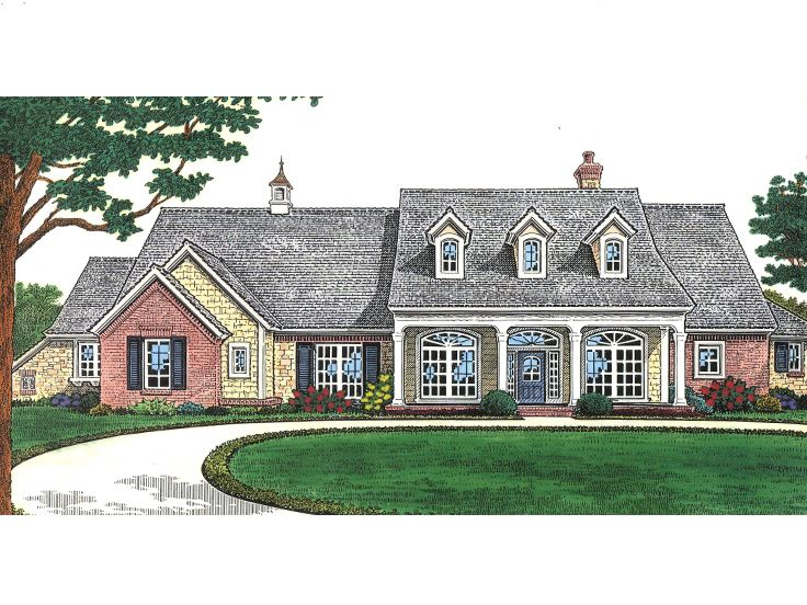 Country House Plan, 002H-0096