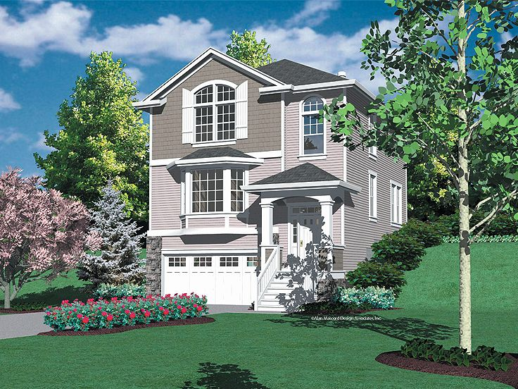 Hillside view home plans floor plans for Hillside house plans