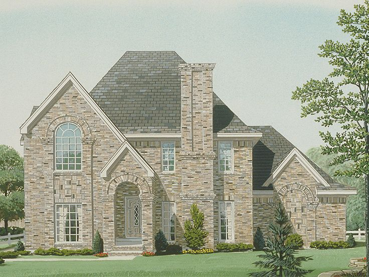 Two-Story House Plan, 054H-0129