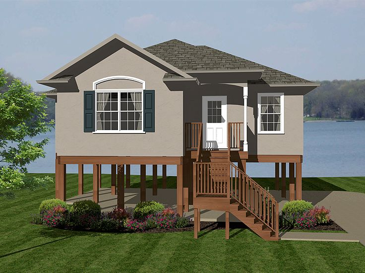 Waterfront House Plan, 004H-0104