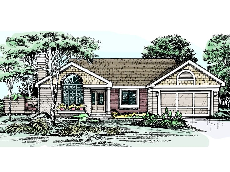 Ranch House Plan, 022H-0079