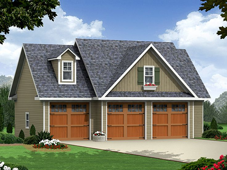 Carriage House Plans | 3-Car Garage Apartment Plan #001G ...