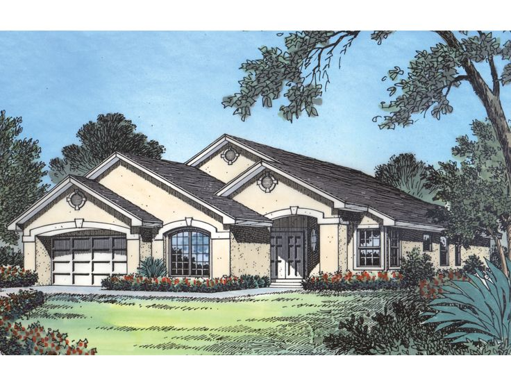 Ranch House Design, 043H 0055
