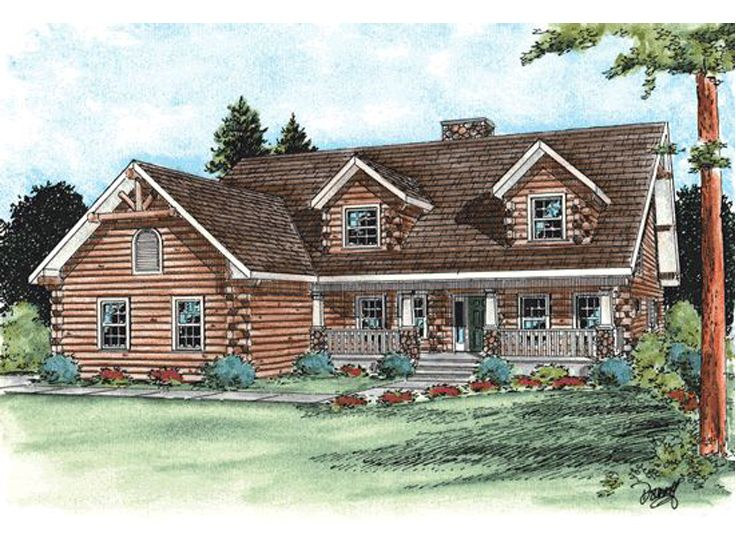 Log Home Plan, 031L-0022