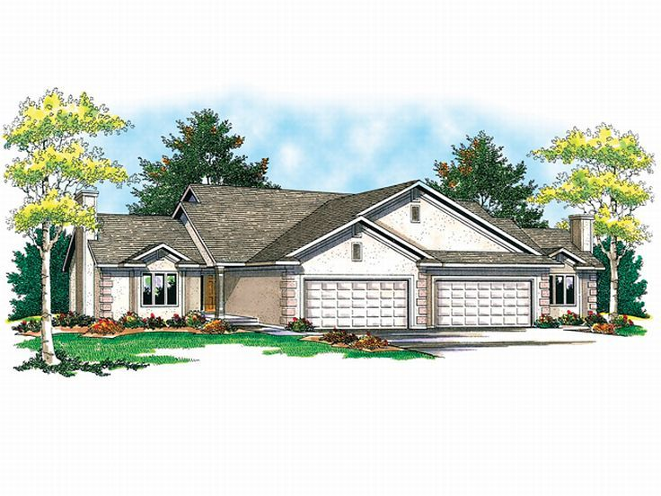 Multi-Family Home Plan, 020M-0022