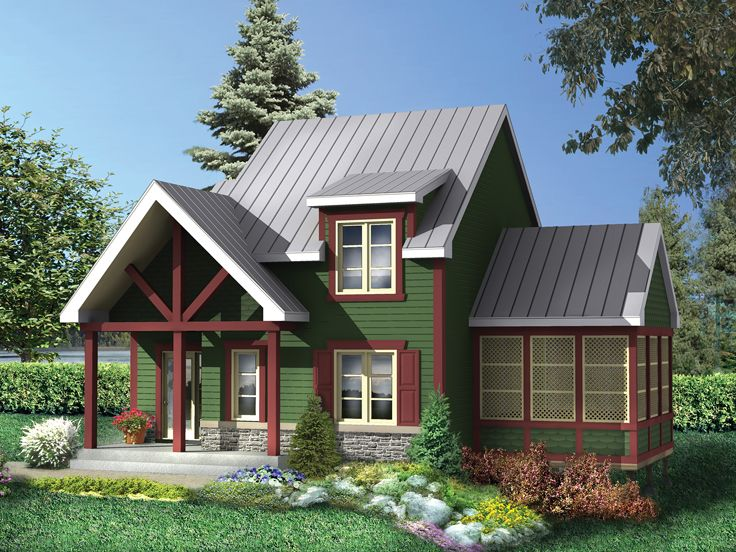 Two-Story Cabin Plan, 072H-0222