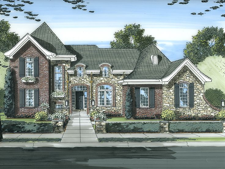 European House Plan, 046H-0059