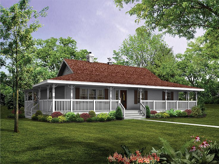 Plan 032h 0085 find unique house plans home plans and for Single level ranch house plans