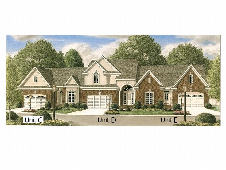 Plan 011m 0005 find unique house plans home plans and for 4 unit townhouse plans