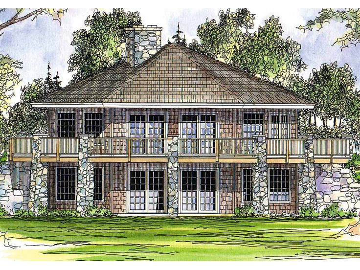 Waterfront House Plan, 051H-0020
