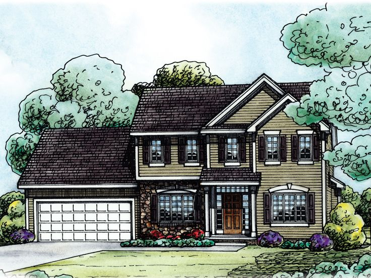 Two-Story House Plan, 031H-0219