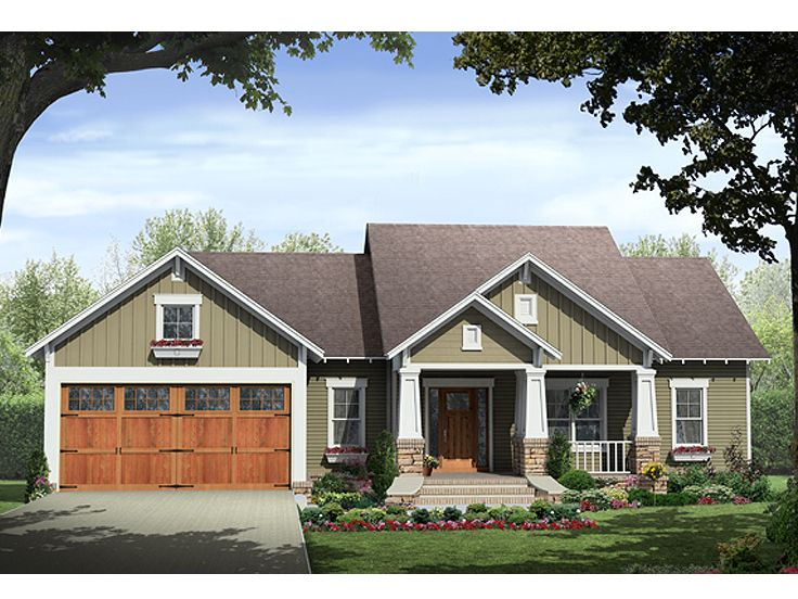 Craftsman Home Plan, 001H-0123