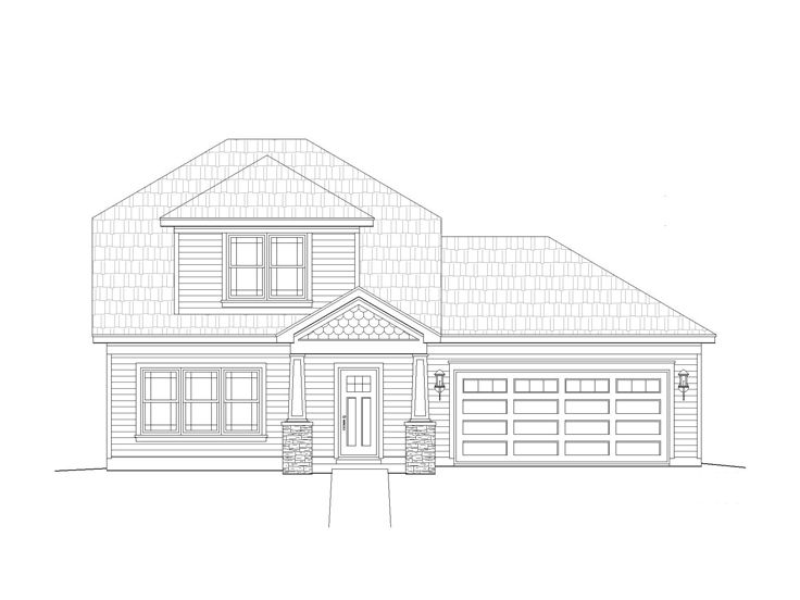 Craftsman Home Plan, 062H-0023