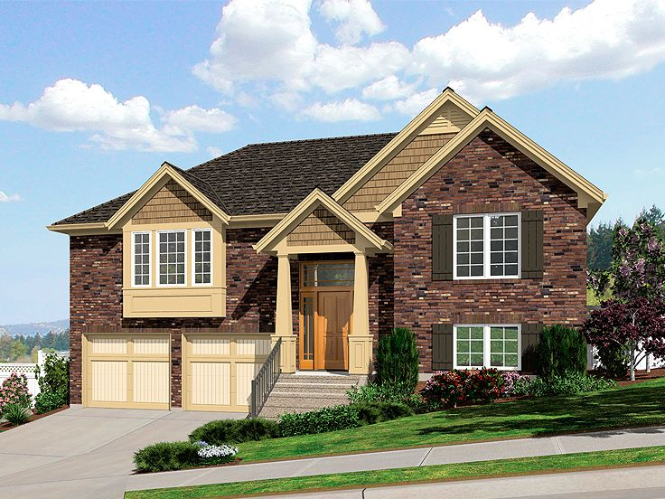 Split-Level Home Plan, 046H-0087