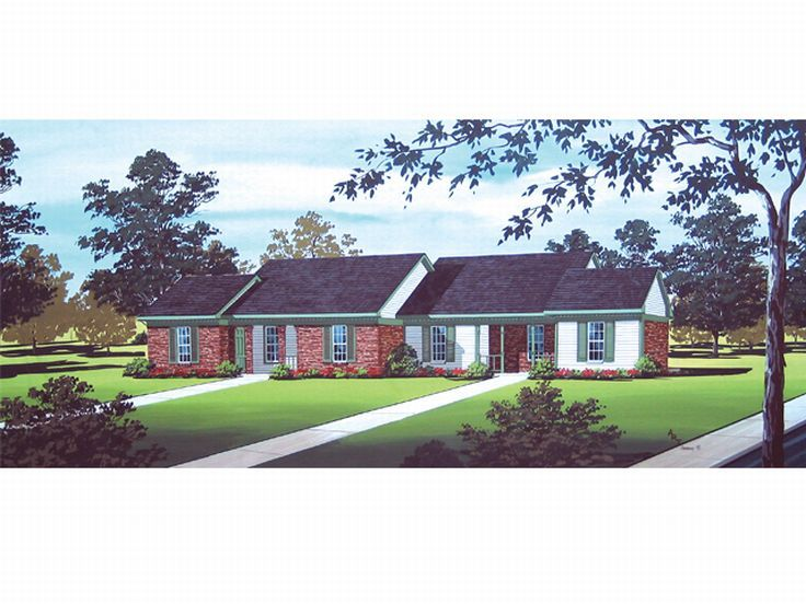 Duplex Home Plan, 021M-0002