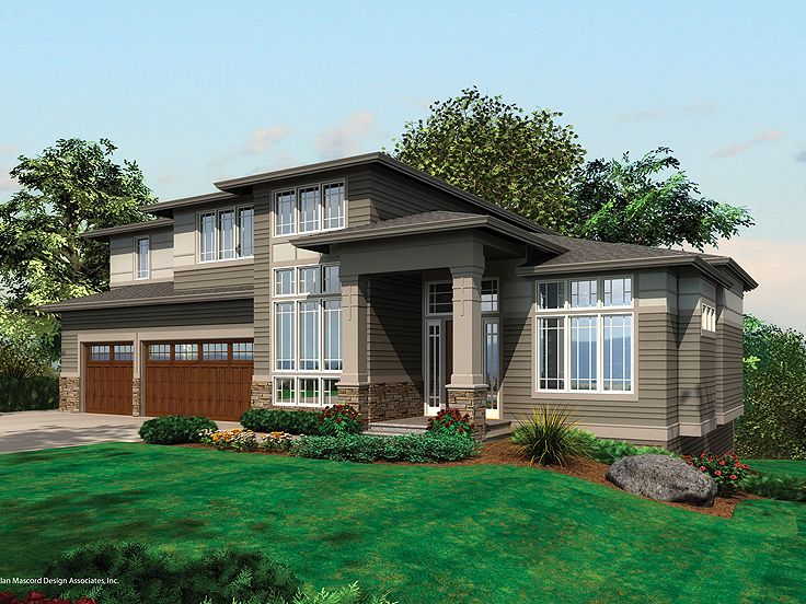 Contemporary House Plan, 034H-0046