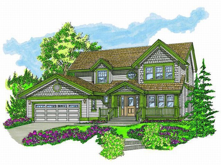 2-Story House Plan, 032H-0073