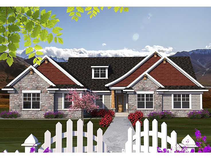 European home plans one story european house plan 020h One story european house plans