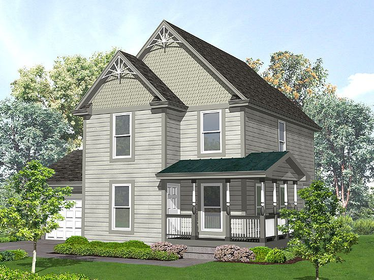 Two-Story House Plan, 016H-0014